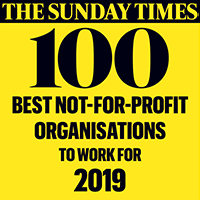 Sunday Times 100 best non-profit award logo